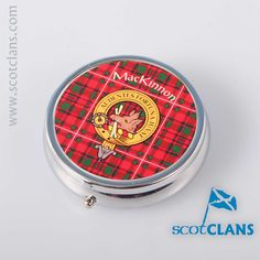 MacKinnon Clan Crest Pill Box. Free worldwide shipping available