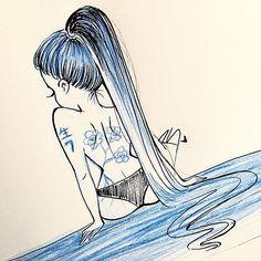 💙Goodnight💙  #inktober #sketch #ink #sketching #instaart #instahub #draw #drawing #drawings #illustration #inspiration #arts #artwork #thursday #goodnight #Godisgoodallthetime