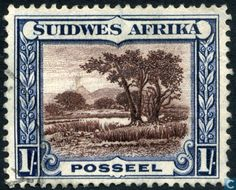 "1931 Scott 108 green & black ""Kori Bustard"" Quick History South West Africa, located between Angola and the Union (later Republic). Union Of South Africa, Forest Landscape, Afrikaans, West Africa, Sierra Leone, Africa Travel, Stamp Collecting, Postage Stamps, Art Forms"