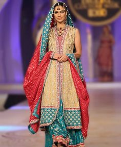 D4597 Bridal Shararas For Wedding Reception by Designer Sana Abbas at Pantene Bridal Couture Week 2013 New Arrivals