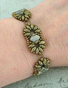 Linda's Crafty Inspirations: Bracelet of the Day: Duo Silky Bracelet - Suede Gold & Lazure Blue