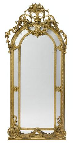 A Napoleon III carved giltwood and gesso pier mirror  <BR />third quarter 19th century