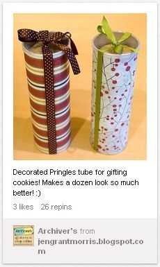 Art Decorated Pringles Can craft-ideas