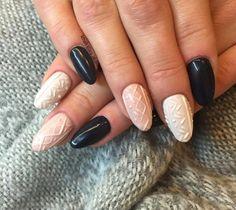 Cable Knit Sweater Nail Art Designs  #nails #nailart #naildesigns