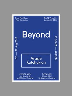Araxie Kutchukian Show Material on Behance