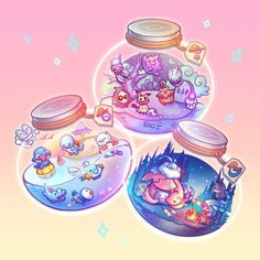 "🎠🌺 Gloria 🌺🎠 on Instagram: ""#Pokemon keychains + pouches are up for preorder while I'm away for vacation, until May 14! If you missed them at Doujima now is your…"" Arte Do Kawaii, Kawaii Art, Kawaii Anime, Cute Food Drawings, Cute Kawaii Drawings, Kawaii Wallpaper, Cute Wallpaper Backgrounds, Aesthetic Anime, Aesthetic Art"
