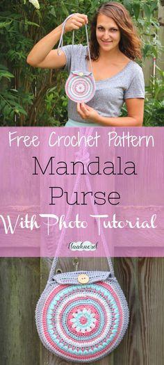 Free crochet pattern with photo tutorial for a mandala purse | Haaknerd via @haaknerd