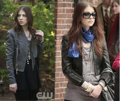 Georgina Sparks from Gossip Girl loves leather jackets