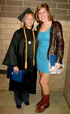 Junior Year, with my Work Study supervisor and good friend Darcy at her graduation ceremony! #loveher