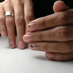 Fall Nail Designs - My Cool Nail Designs Neutral Nails, Nude Nails, Manicure And Pedicure, Beautiful Nail Designs, Cool Nail Designs, Nail Stamping, Stylish Nails, Simple Nails, Nails Inspiration