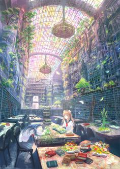 Anime fantasy world Fantasy Places, Fantasy World, Fantasy Art, Anime Fantasy, Anime Kunst, Anime Scenery, Animes Wallpapers, Fantasy Landscape, Manga Art