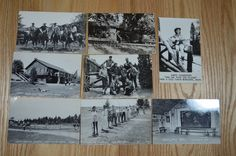 Lot 8 Real Photo Postcards RPPC Jack & Jill Ranch Montague Michigan Wranglers bk // #Michigan History, Legends and Folklore
