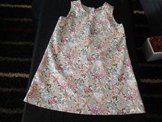 Size 4 - Simple A-line dress - pretty soft colurs