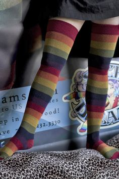 Extraordinary Harvest Rainbows - Unique Sexy Colorful Socks - Sock Dreams