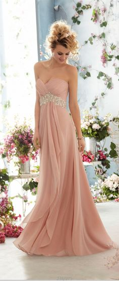 long pink party dresses