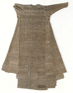 Dress of St. Claire of Assisi.  (1194-1253)  Her gown is displayed at the Protomonastero di Santa Chiara, Assisi.