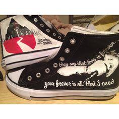 5d2fb2f5d499 Kick ass Sleeping with Sirens chucks. how does1 · random fandom shoes