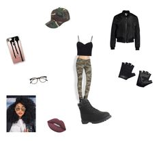"""My Halloween costume  Army girl"" by asiyakamara ❤ liked on Polyvore featuring Casetify, True Religion, Alexander Wang, Timberland, Boohoo, Casall, Sans Souci, Illesteva and Lime Crime"
