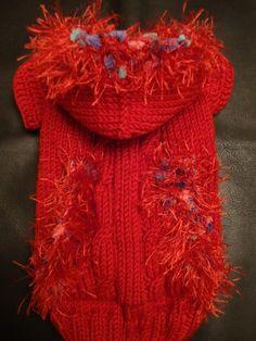 Handmade Dog Sweater - Stunning!!