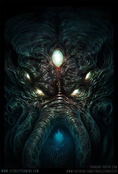 Lethality Cthulhu Head by TentaclesandTeeth | Digital Art / Drawings & Paintings / Fantasy | Lovecraftian / H.P. Lovecraft