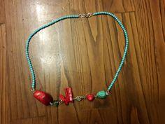 Collana perle e corallo realizzata su richiesta.  Seguiteci su Facebook 👍