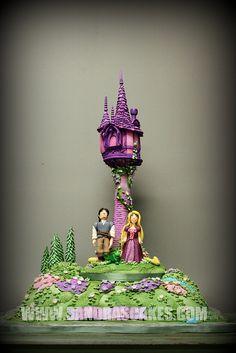TANGLED CAKE Princess Theme Cake, Princess Party, Cupcakes, Cupcake Cakes, Rapunzel Cake, Cake Story, Fondant, Character Cakes, Disney Cakes