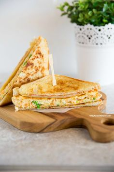 "A popular ""on the go"" Korean breakfast - Korean egg toast recipe. In essence, it's a savory, filling and mildly addictive Korean toast available on Korean streets. Now you can make it at home within 15 mins!"