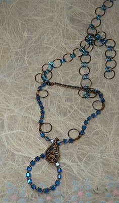 jewelry made with bead attached wire  | Click on the photos for a closer look.