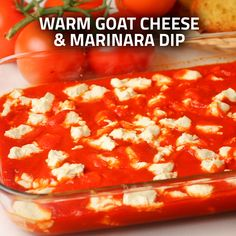 Warm Goat Cheese & Marinara Dip- This Italian appetizer is served at many restaurants- now you can enjoy it in your very own home!