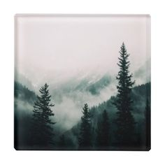 Over the Mountains and trough the Woods Glass Coaster - wood gifts ideas diy cyo natural
