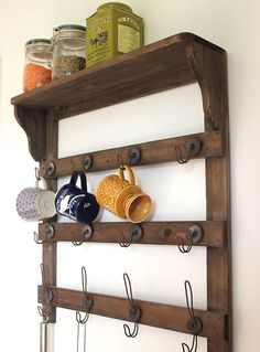 94 wood wall shelves designs that inspire to add to the beauty of your home space - Enable Wooden Wall Cabinets to Enhance Your Rooms Men and women adore to present off what they very own. Kitchen Wall Shelves, Wooden Wall Shelves, Wooden Walls, Wooden Shelf Design, Wall Shelves Design, Wall Design, Wooden Wall Cladding, Wall Mirrors Metal, Wall Sconces