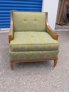 Antique Vintage Sheraton Style Carved Wood Arm Chair Price Includes Upholstery Service 60000 Via