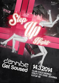 "party flyer for ""Step Up Night"" party"