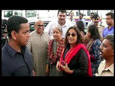 Vidya Balan watches Rajinikanth's KABALI in crowded theater along with husband. See the full video at : https://youtu.be/rm9tIsMcSf8 #vidyabalan #kabali