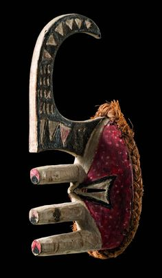 "Africa | Mask ""mma ji"" from the Ibo-Afikbo people of Nigeria 
