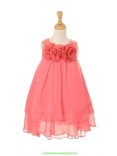 coral flower girl dress | Flower Girl Dresses, Communion Dresses, Pageant Dresses - Coral Yoru ...