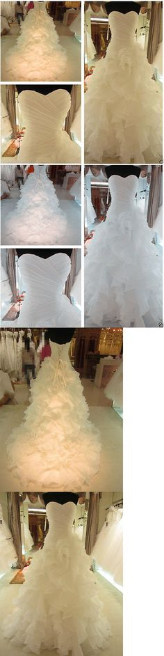 Wedding Dresses: New White/Ivory Organza Wedding Dress Bridal Gown Stock Size:6 8 10 12 14 16 18 BUY IT NOW ONLY: $68.0