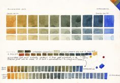 Ultramarine Blue In the large Moleskine watercolour sketchbook I did a comparison of every Daniel Smith watercolour, with pigment notes, r...