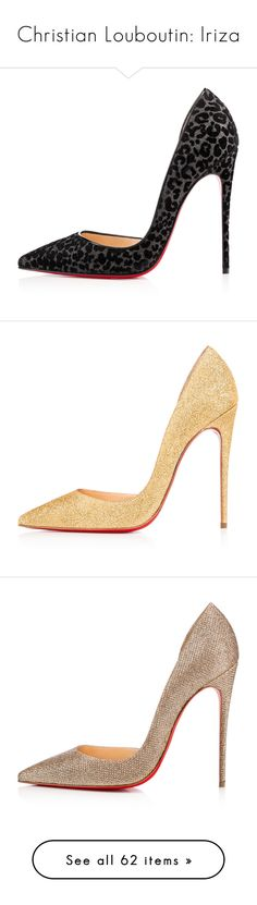 """Christian Louboutin: Iriza"" by livnd ❤ liked on Polyvore featuring shoes, pumps, heels, christian louboutin pumps, d'orsay pumps, glitter black pumps, black velvet pumps, leopard print pumps, christian louboutin and louboutin"