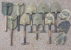 Military Surplus, Military Gear, Tactical Survival, Army Soldier, American Soldiers, Character Design References, Shovel, Usmc, World War Two