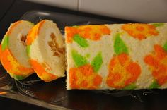 DECORATED SPONGE CAKE Sifted Flour, Happy Today, Oven Racks, Sponge Cake, Rolls, Baking, Desserts, Recipes, Frostings