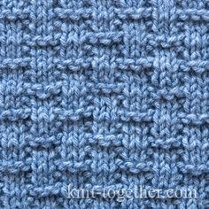 Basket Stitch Pattern 1, knitting pattern chart, Squares, Diamonds, Basket Stitch Patterns