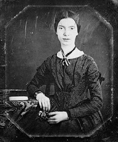 Emily Dickinson (1830-1886) was born in Amherst, Massachusetts.  She is regarded as one of America's greatest poets and is also well known for her unusual life of self imposed social seclusion. Living a life of simplicity and seclusion, she yet wrote poetry of great power; questioning the nature of immortality and death, with at times an almost mantric quality.