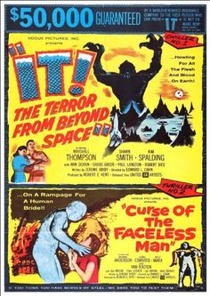 'It! / Curse Of The Faceless Man' - Fantastic A4 Glossy Print Taken From A Vintage Movie Poster by Design Artist http://www.amazon.co.uk/dp/B00I5D5716/ref=cm_sw_r_pi_dp_9C2jvb1Z0KRB1