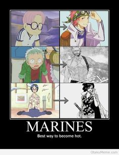 One Piece - Marines best way to become hot