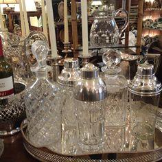 Antique martini shakers. Beautiful.