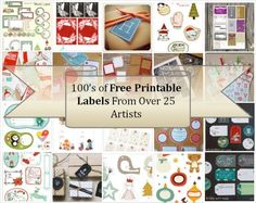 100's of Free Printable Labels by karin