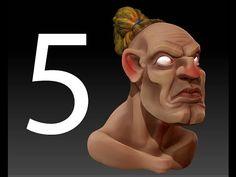 zbrush tutorial creating 3d cartoon character No 4 - YouTube