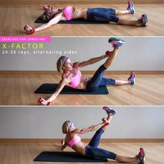 Try the intense X-Factor crunch exercise to quickly tone your abs. Re-pin now, check later.