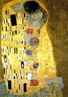 Klimt. Kiss ... the iconic lovers image. #aclearplace